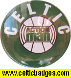 Action Man toy - Celtic badge