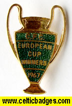 3 set European Cup 1967 badges